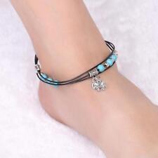 Bead Ankle Anklet Bracelet Q Multi Layer Tibetan Silver Elephant Turquoise