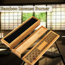 Double-Deck Bamboo Incense Burner + Drawer Joss-stick Storage Box Aromatherapy