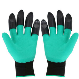 Garden Genie Gloves With 4 ABS Claws Gardening Digging Planting Pruning Tools