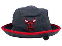 CHICAGO BULLS NEW ERA NBA HWC GRAPHITE HEATHER RED TRIM BUCKET HAT CAP SIZE XL