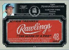 2013 Topps CARLTON FISK Museum Collection Momentous Material Laundry Tag #d 1/1