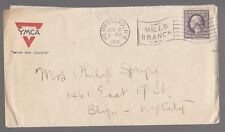 [57404] 1918 U.S. POSTAL COVER & LETTER Y.M.C.A. POSTMARKED FROM HEMPSTEAD, N.Y.