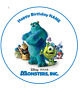 Monster Inc personalised edible Image cake topper real icing sheet 19cm #120