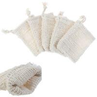 5Pcs Natural cotton and linen soap bag bath flower handmade soap storage _ws