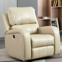 Large Size Electric Recliner Sofa Chair w/ USB Port Overstuffed Padded Back Seat