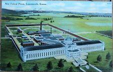 Leavenworth, KS 1915 Postcard: New Federal Prison - Kansas Kans