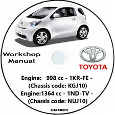 TOYOTA iQ,workshop manual 2008/2016.Manuale officina (ENG) Toyota iQ - 1.0 VVT-i