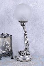 Lampe de table classique art déco érotique Figure Féminine argent