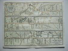 stampa antica MAPPA PIANTA CARTA TOPOGRAFICA LAZIO ROMA VIA APPIA 1930 C.