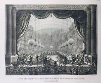 Castello Di Versailles IN 1789 Opera Stampa Rivoluzione Francese