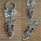 Personalised HAPPY BIRTHDAY Gifts Charm Keyring 18th 21st 30th - Gift for her