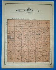 1914 Plat Map ~ CRESTON Twp. PLATTE Co., NEBRASKA ~ Land Genealogy Ancestry