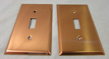 Lot of 2 Vintage Copper Light Switch Covers, Unbranded