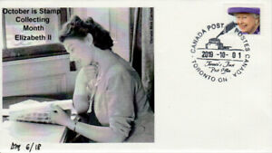 October Stamp Collecting Month Queen Elizabeth II cover numbered 6 of 18