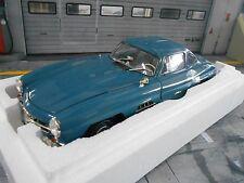 MERCEDES BENZ 300SL 300 SL W 198 I Flügeltürer blau blue 1954 Minichamps 1:18