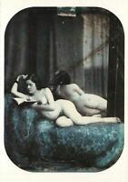 NUDE LADY READING BOOK in BED EROTIC PHOTO POSTCARD by Auguste Belloc