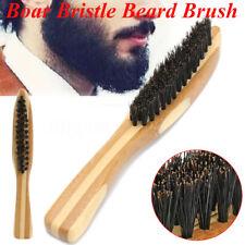 Men 100% Boar Bristle Beard & Mustache Styling Brush Facial Hair Shaving Brush