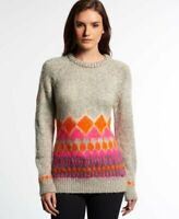Superdry mountain ombre brushed fairisle knit jumper size M 12