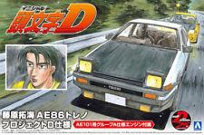 Toyota Trueno AE86 Project D Takumi Initial D 1:24 Model Kit Aoshima 059579