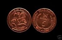 MADAGASCAR 5 ARIARY KM-17 1992 x 1 Piece  RICE PLANT AFRICAN UNC MONEY COIN