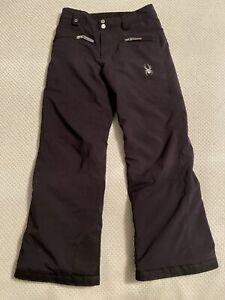 SPYDER Boys Girls Size 12 Black Snow Pants Thinsulate Lined Ski Snowboard Pants