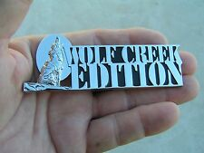 UK ~ WOLF CREEK EDITION Chrome CAR BADGE Metal Emblem suit FORD PICKUP etc