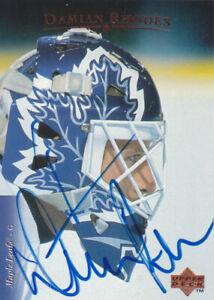 Damian Rhodes Autograph 95-96 UD Maple Leafs  Card Thrashers - Senators