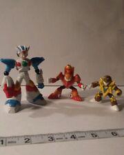 3pc capcom 1995 Mega man mini figure anime manga video game Japan lot rare