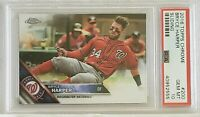 2016 Topps Chrome Bryce Harper Sliding PSA Gem Mt 10