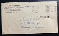 1944 Tonkawa OK Usa Cover Prisoner Of War Internment POW Camp To Martinez CA