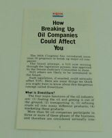 Exxon Informational Pamphlet How Breaking Up Oil Companies Could Affect You Bill
