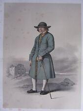 1872 PRINT SWEDISH PEASANT COSTUME~ THE DISTRICT OF OXIE Skanska Folkdragter