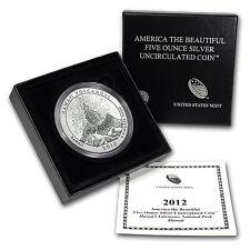 2012-P 5 oz Silver ATB Hawaii Volcanoes, HI - Box and Certificate - SKU #72541