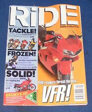 RIDE MAGAZINE JANUARY 1998 - TACKLE! FROZEN! SOLID!
