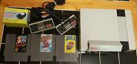 Nintendo NES Console System Super Mario Bros 1 2 3 Tight Pins 2 oem Controllers