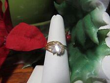 Gold Plated Womens CZ  Multi-Stone Fashion Ring Sz 8