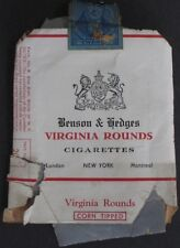 1942 Benson & Hedges Corn Tipped VIRGINIA ROUNDS CIGARETTES Empty Package Stamp