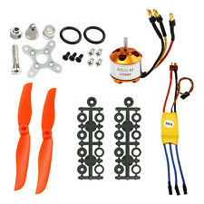 RC 2200KV Brushless Motor 2212-6+30A ESC+Free Mount for rc Air Plane helicopter