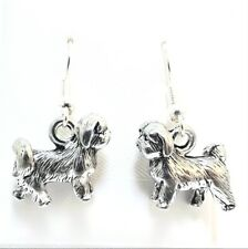 Adorable Jack Russell Terrier 3D Gold Plated Dangle Pewter Charm
