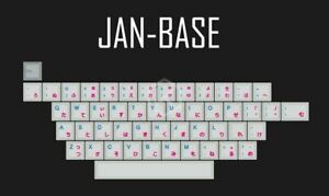 Japanese Root Custom Keycap Set Japan Cyan Font Cherry profile Dye Sub PC Master