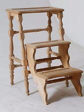 Scaletta scala tre gradini chiudibile in legno cm 53x37 h 76 Nuova Arredo