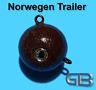 Norwegen Trailer, 70g 110g 140g 170g Sea Trailer, Kugelblei mit Öse, Jigkopf
