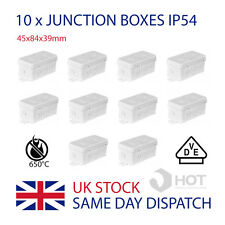 10 x Waterproof IP54 Junction Boxes 45x84x39mm