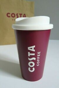 COSTA COFFEE GENUINE TRAVEL REUSABLE TUMBLER PLASTIC MUG CUP SIZE REGULAR NEW