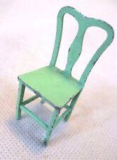 Muebles Vintage Casa De Muñecas-silla De Metal Pintado Verde Tootsie Toy #2 - Raro