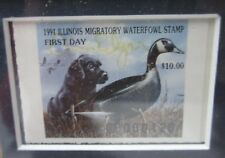 1991 Ducks Unlimited Governor's Edition Illinois Duck Stamp Framed