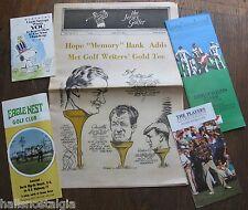 5 Golf Booklets: 1991 Players Championship,Eagle Nest Myrtle Beach,1970 Bob Hope