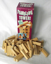 VTG Tumbling Tower JENGA Wood Blocks Game Puzzle Family Complete Original Box