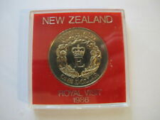 New Zealand 1986 Royal Visit $1 One Dollar Coin in Jewel Case - Rare