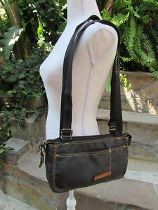 Vintage Woman's Diesel Satchel Shoulder Bag 100% Nylon Midnight Blue Purse